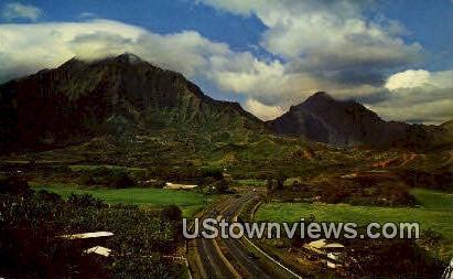 Koolau Mountains - Honolulu, Hawaii HI Postcard