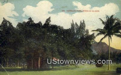 Kapiolani Park - Hawaiian Islands Postcards, Hawaii HI Postcard