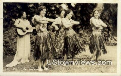 Hula Dancers, Real Photo - Hawaii Postcards, Hawaii HI Postcard