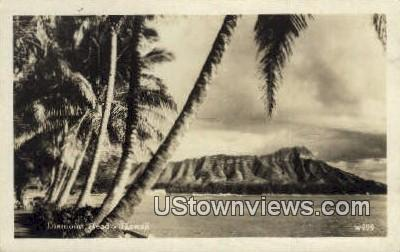 Diamond Head, Real Photo - Hawaii Postcards, Hawaii HI Postcard