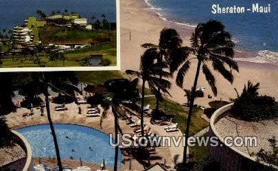 Maui Sheraton - Hawaii HI Postcard