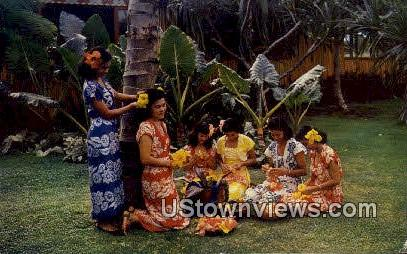 Happy Hawaiians - Hawaii Postcards Postcard