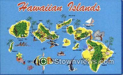 Hawaiian Islands, Hawaii, HI, - Hawaiian Islands Postcards Postcard