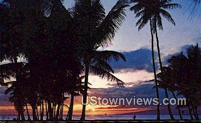 Hawaiian Sunset - Hawaii Postcards Postcard
