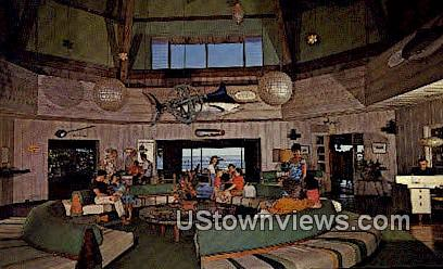 Kona Inn Guest Lobby - Kailua-Kona, Hawaii HI Postcard