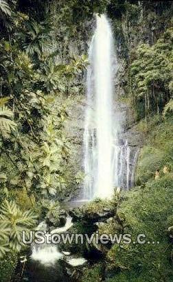 Wailua Falls - Maui, Hawaii HI Postcard