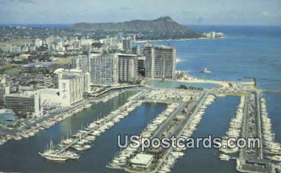 Ilikai to Diamond Head - Waikiki Beach, Hawaii HI Postcard