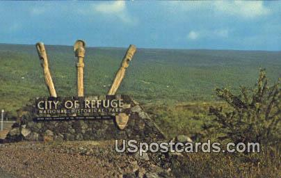 City of Refuge National Historical Park - Kona, Hawaii HI Postcard