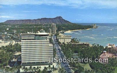Top of Waikiki, Diamond Head Frame - Hawaii HI Postcard