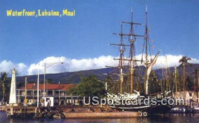 Waterfront, Lahaina - Maui, Hawaii HI Postcard