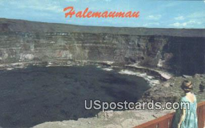 Lookout - Halemaumau, Hawaii HI Postcard