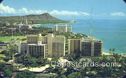 Waikiki, Hawaii Postcard      ;      Waikiki, HI