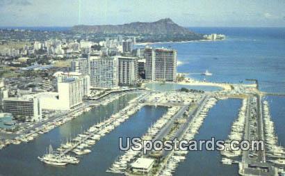 Ilikai to Diamond Head - Waikiki, Hawaii HI Postcard