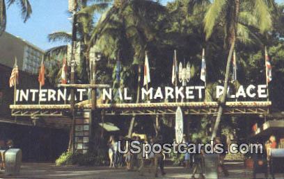 International Marketplace - Waikiki, Hawaii HI Postcard