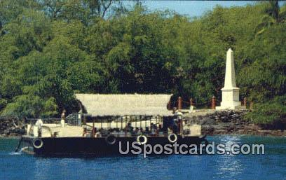 Capt James Cook Monument - Kealakekua Bay, Hawaii HI Postcard
