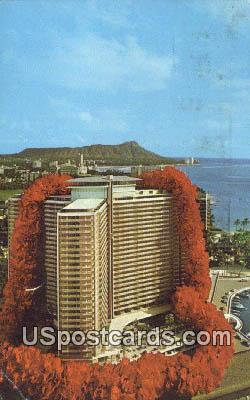 Ilikai, Yacht Harbor - Waikiki, Hawaii HI Postcard