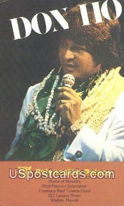 Don Ho, Polynesian Palace - Waikiki, Hawaii HI Postcard