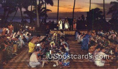 A Iuau - Waikiki, Hawaii HI Postcard