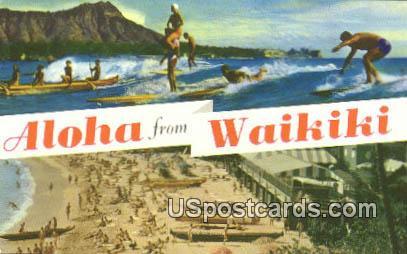 Waikiki, HI Postcard      ;      Waikiki, Hawaii