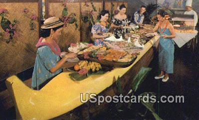 Outrigger Buffet Kona Inn - Hawaii HI Postcard