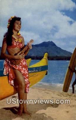 Hula Maid - Waikiki, Hawaii HI Postcard