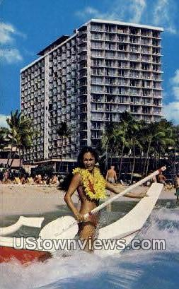 Outrigger Hotels - Waikiki, Hawaii HI Postcard