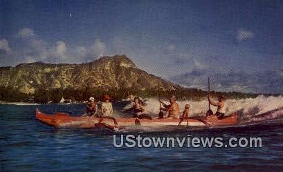 Surf Sport - Waikiki, Hawaii HI Postcard