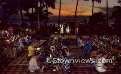 Queen's Surf - Waikiki, Hawaii HI Postcard