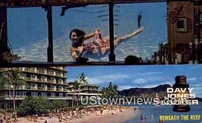 Davy Jones Locker - Waikiki, Hawaii HI Postcard