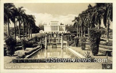 LDS Hawaiian Temple, Real Photo - Oahu Postcard