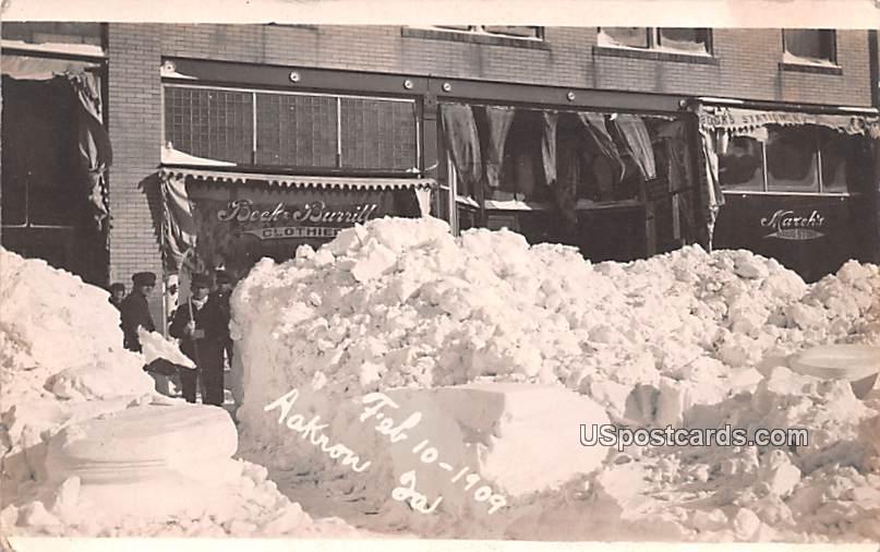 Winter Snow Feb 10, 1909 - Ackron, Iowa IA Postcard