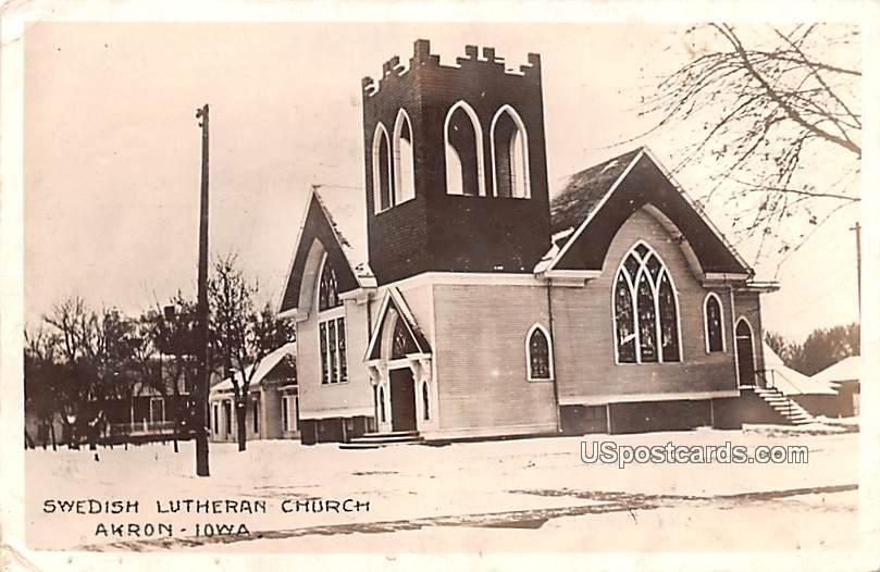 Swedish Lutheran Church - Akron, Iowa IA Postcard