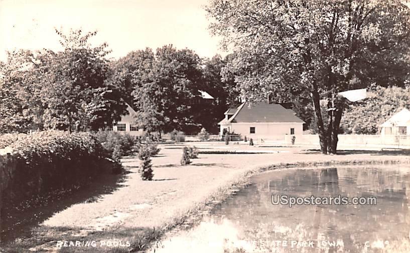Rearing Pools - Backbone State Park, Iowa IA Postcard