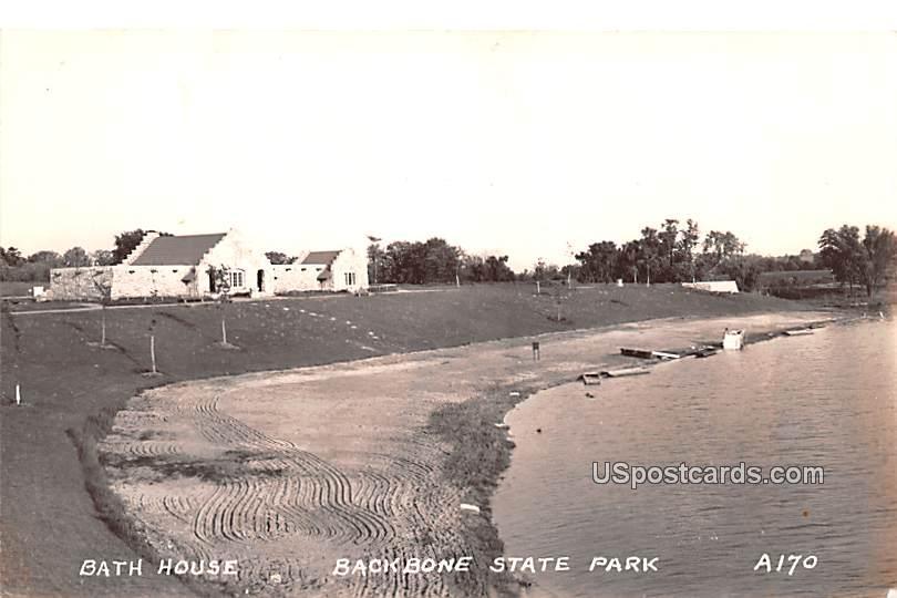Bath House - Backbone State Park, Iowa IA Postcard