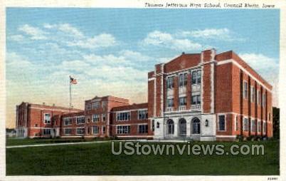 Thomas Jefferson High School - Council Bluffs, Iowa IA Postcard