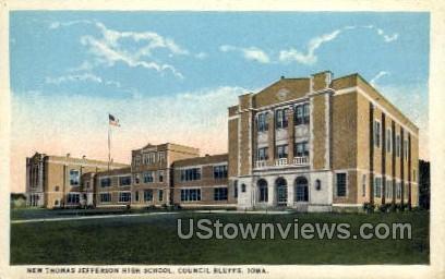 New Thomas Jefferson High School - Council Bluffs, Iowa IA Postcard