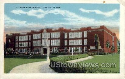 Clinton High School - Iowa IA Postcard