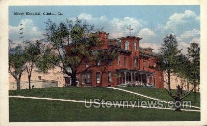 Mercy Hospital - Clinton, Iowa IA Postcard