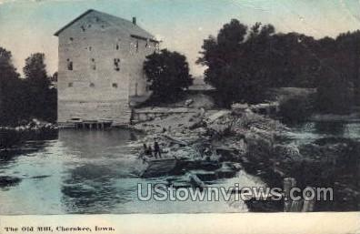 The Old Mill - Cherokee, Iowa IA Postcard