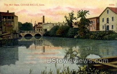 The Mill Race - Cedar Falls, Iowa IA Postcard