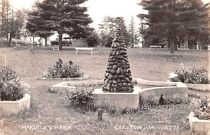 McKinley Park - Creston, Iowa IA Postcard