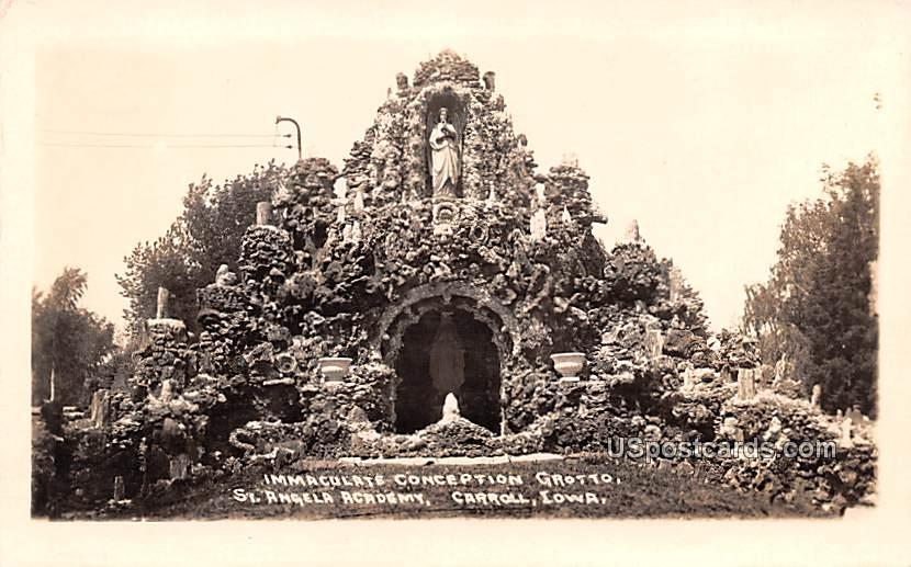 Immaculate Conception Grotto - Carroll, Iowa IA Postcard