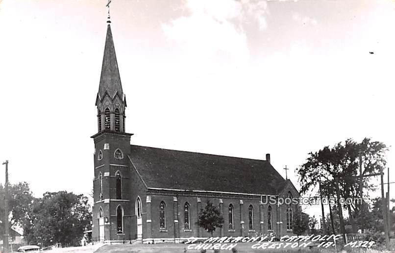 St Malachy's Catholic Church - Creston, Iowa IA Postcard