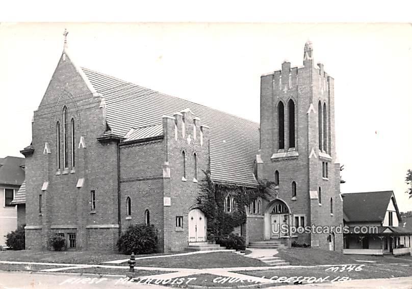 First Methodist Church - Creston, Iowa IA Postcard