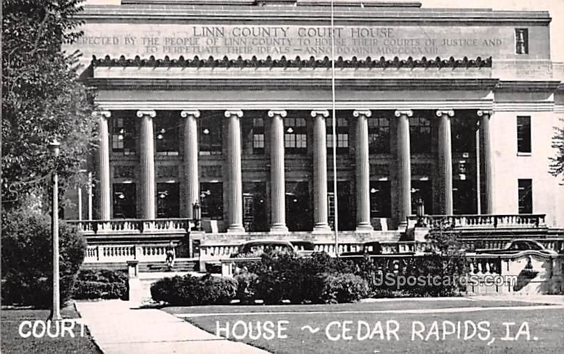Court House - Cedar Rapids, Iowa IA Postcard