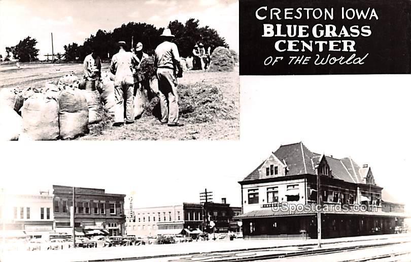 Bluegrass Center - Creston, Iowa IA Postcard