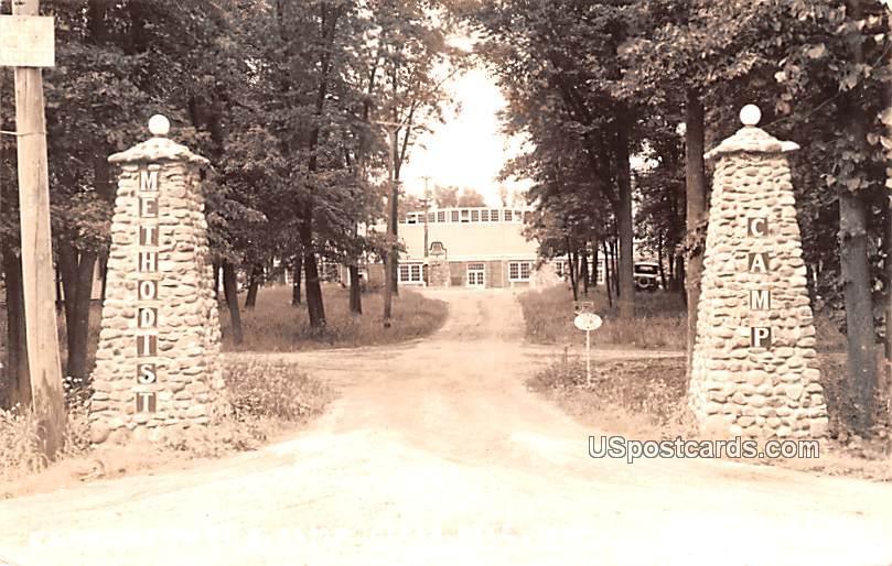 Entrance to ME Camp - Clear Lake, Iowa IA Postcard