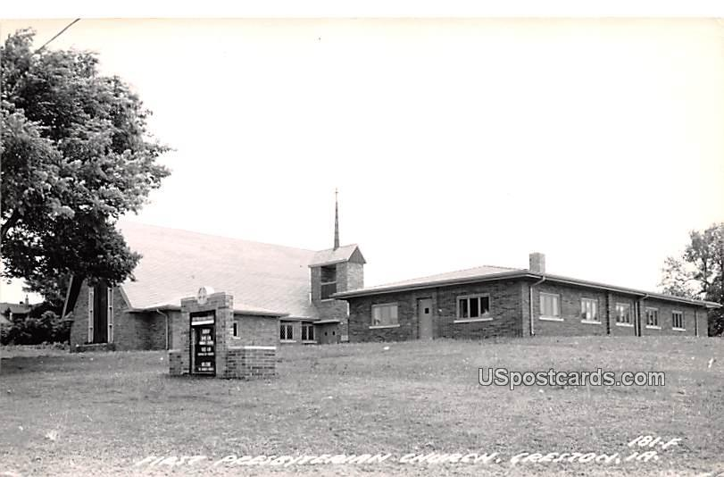 First Presbyterian Church - Creston, Iowa IA Postcard