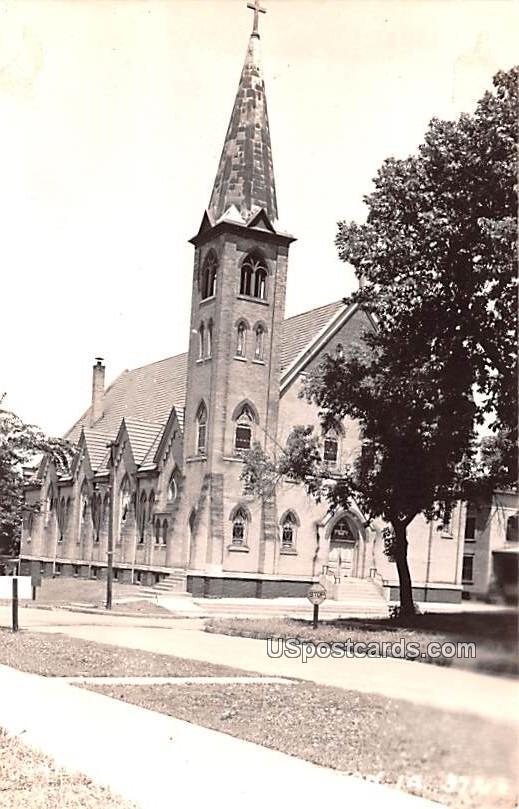 Catholic Church - Creston, Iowa IA Postcard