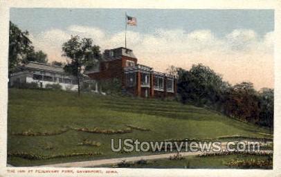 The Inn At Fejervary Park - Davenport, Iowa IA Postcard